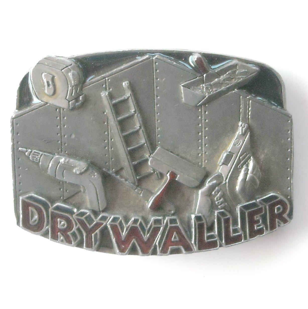 Drywaller 1992 C&J Inc pewter alloy belt buckle