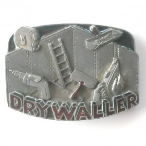 Drywaller C+J 1992 C&J Inc pewter alloy belt buckle