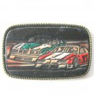 Nascar Leather and Brass alloy belt buckle #2