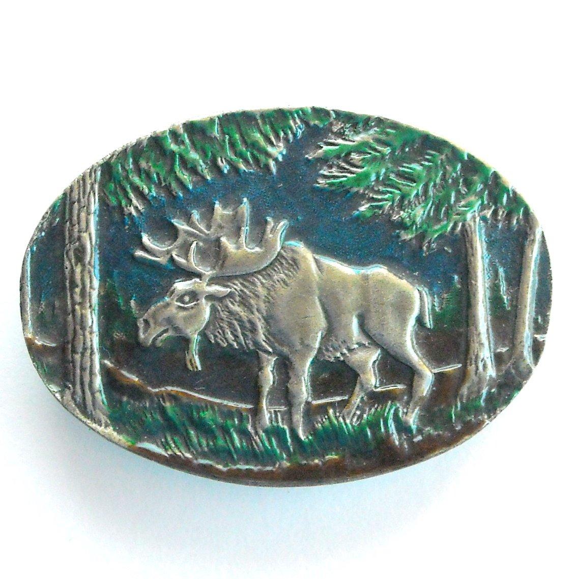 Alaska Moose Indiana Metal Craft American Belt Buckle