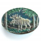 Alaska Moose Indiana Metal Craft American Belt Buckle