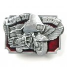 Live To Ride Vintage 3D Siskiyou Pewter metal alloy belt buckle