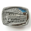 Steam Locomotive Tender Vintage C&J Pewter metal alloy belt buckle