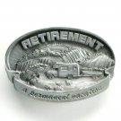 Retirement A Permanent Vacation C&J Pewter Belt Buckle