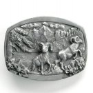 Rams Big Horn Mountain Vintage C J Pewter Belt Buckle