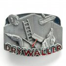 Drywall Tools Vintage C & J Pewter metal alloy belt buckle