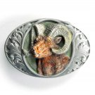 Big Horn Ram Bergamot pewter belt buckle