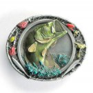 Largemouth Bass Baits Bergamot pewter belt buckle