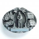Tribute to Firefighters Bergamot pewter belt buckle