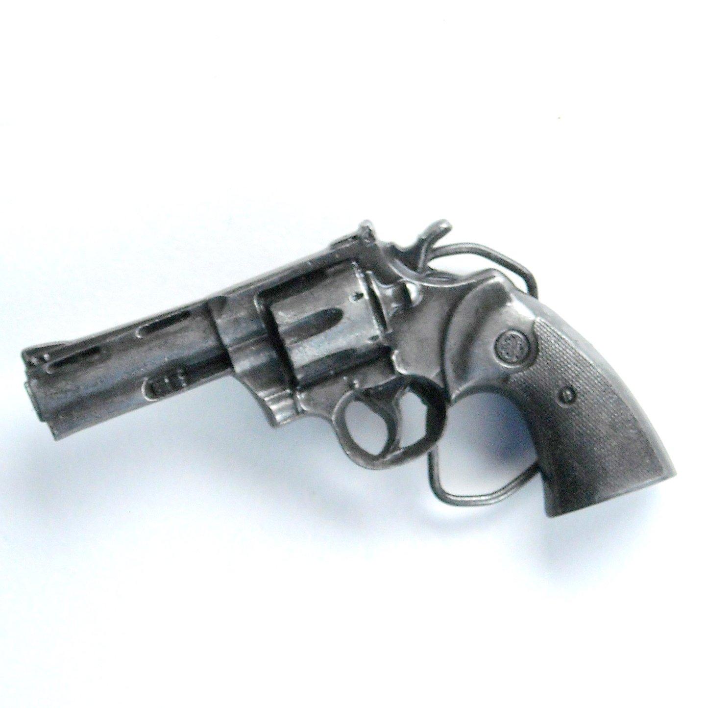 Colt Pistol Vintage Bergamot pewter 3D belt buckle