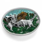 Fighting Elk Vintage Siskiyou Pewter Belt Buckle