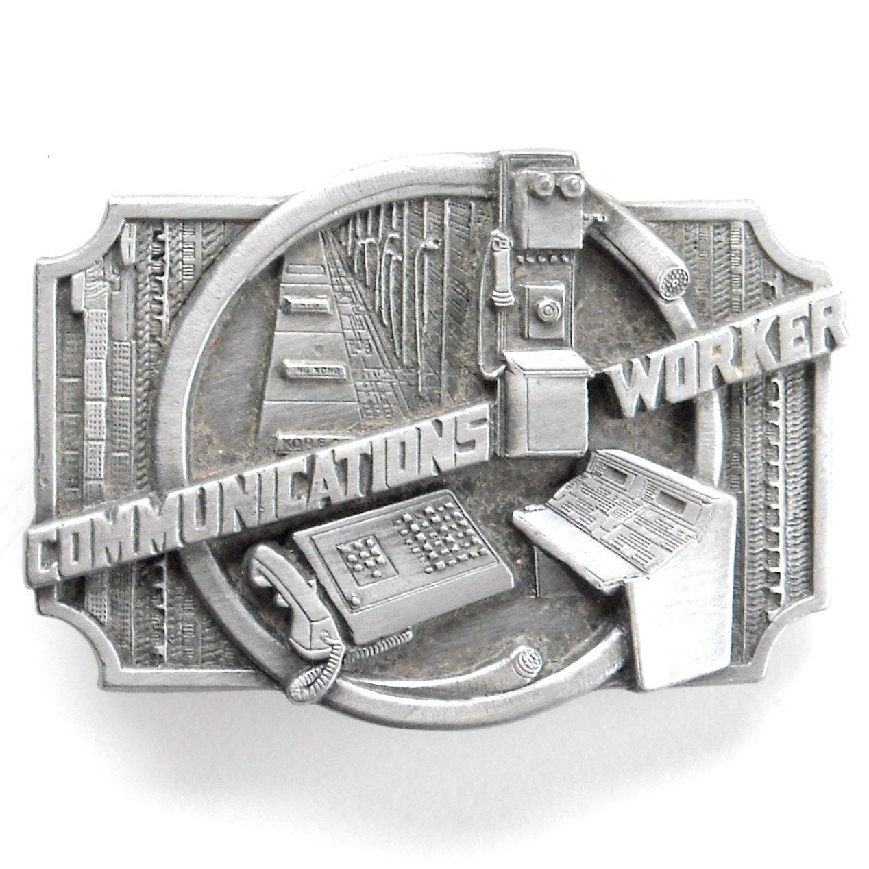 Communications Worker Vintage Siskiyou Pewter Belt Buckle