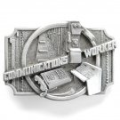 Communications Worker Vintage Siskiyou Pewter Belt Buckle