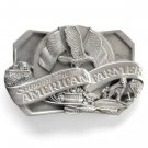Support The American Farmer Vintage Siskiyou Pewter Belt Buckle