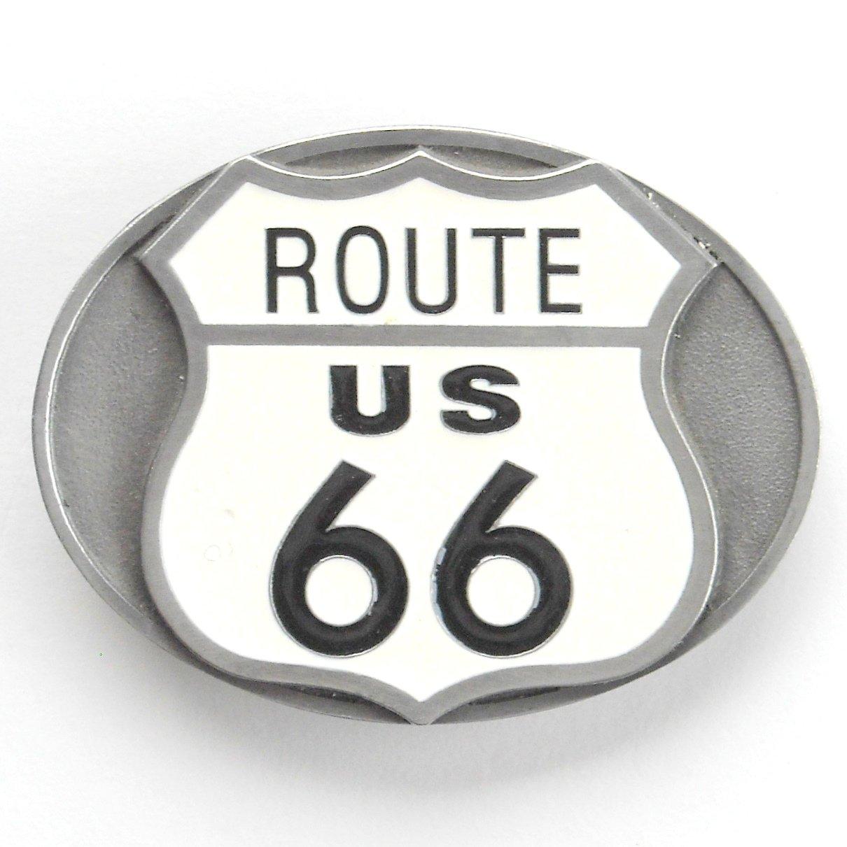 Route US 66 Vintage Siskiyou Pewter Belt Buckle
