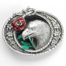 American Eagle Red Rose 3D Great American GAP belt buckle