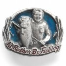 I'd Rather Be Fishing 3D Great American GAP belt buckle