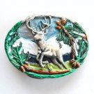 Trophy Buck White Mountain 3D Great American small belt buckle