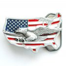 Flying Eagle America Flag 3D Great American belt buckle