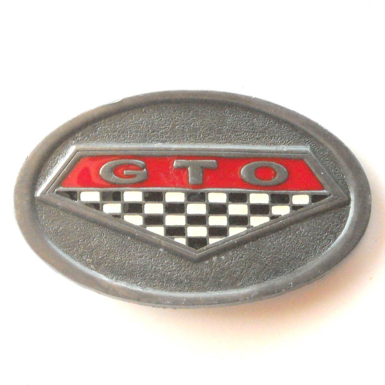C+J 1996 Pontiac GTO C&J Inc pewter alloy belt buckle