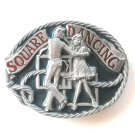 C+J 1986 Square Dancing C&J Inc pewter alloy belt buckle