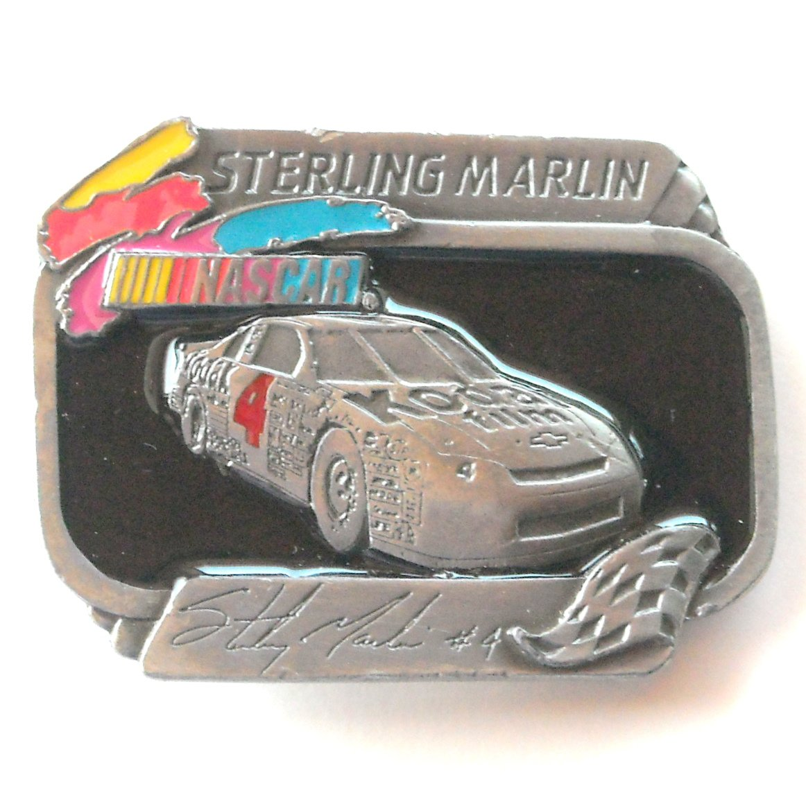 Sterling Marlin Nascar Kodak 4 Limited Edition 962 American Legends Belt Buckle