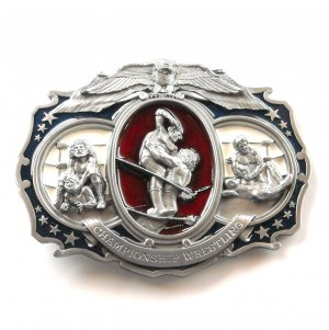 Championship Wrestling 3D Giant Oversized mens Bergamot belt buckle
