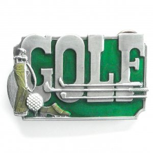 Golf vintage Siskiyou pewter belt buckle