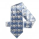 Arrow Modern Blue Design men's silk necktie tie