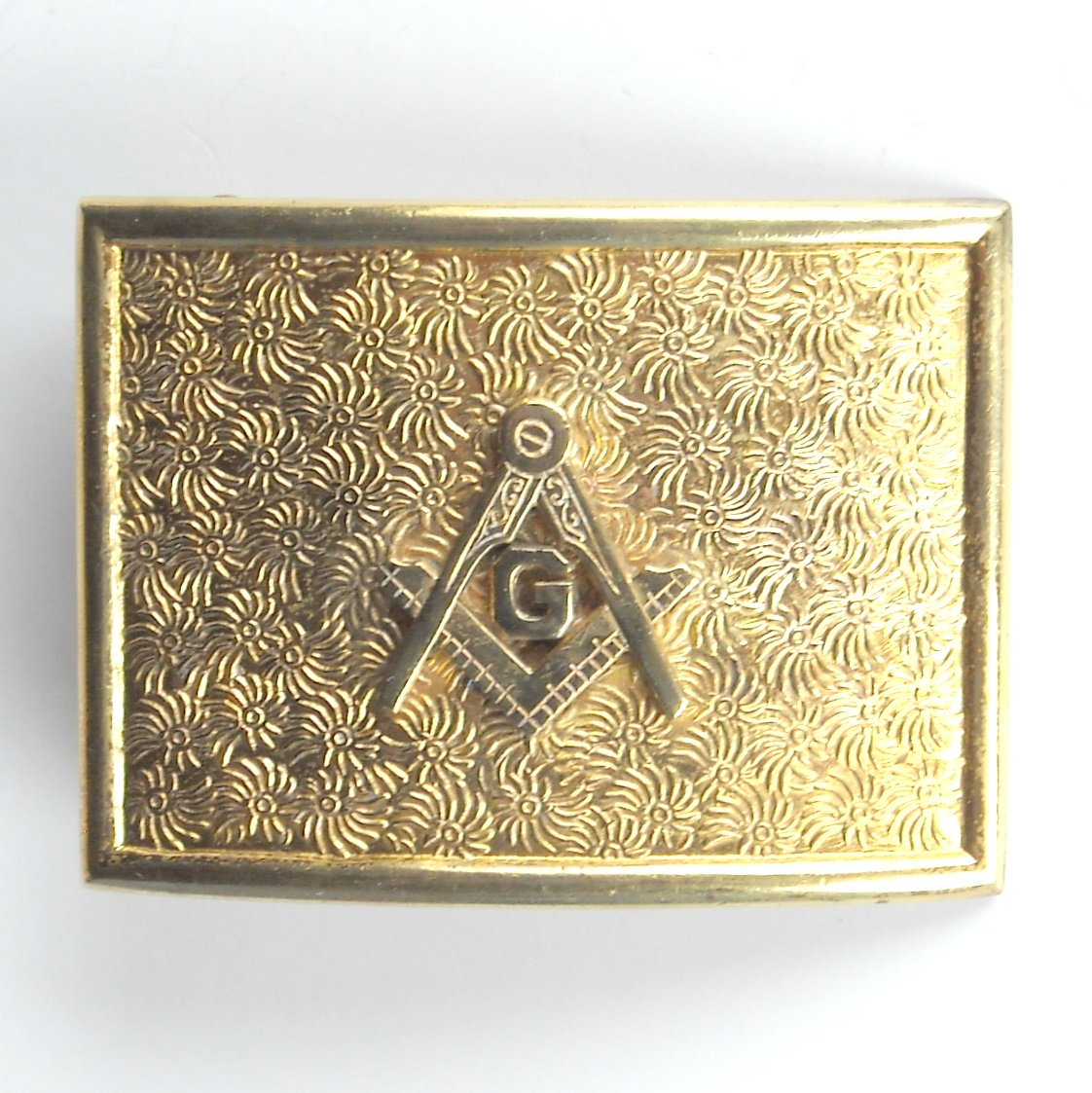 Vintage RARE Freemason Masonic metal belt buckle
