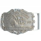 Vintage Foreign and Domestic Gold Dealers Livingston Wells metal belt buckle