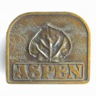 Aspen Bergamot Brass Works 1976 Belt Buckle