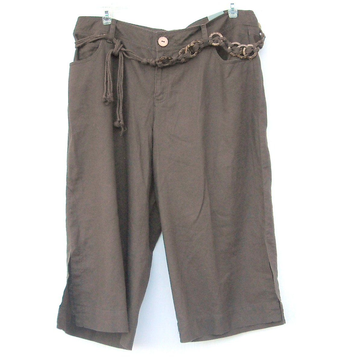 Lane Bryant Venezia womens Brown Capri pants size 18