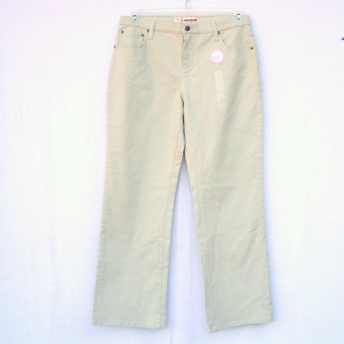 Faded Glory Girls Stretch Bootcut Khaki Jeans Size 14.5