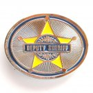 Silver Deputy Sheriff mens belt buckle