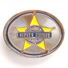 Silver Deputy Sheriff Belt Buckle
