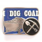 I Dig Coal Pewter Belt Buckle