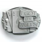 I Got the Nuts 2 Aces mens pewter belt buckle