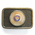 Gettysburg Vintage Eternal Light Peace Memorial mens Brass belt buckle
