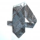 Fondini Black Beige Green Design men's silk necktie tie