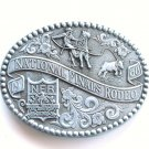 Vintage National Finals Rodeo NFR 1988 Las Vegas used belt buckle