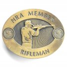 Vintage NRA Member Rifleman Brass Belt Buckle