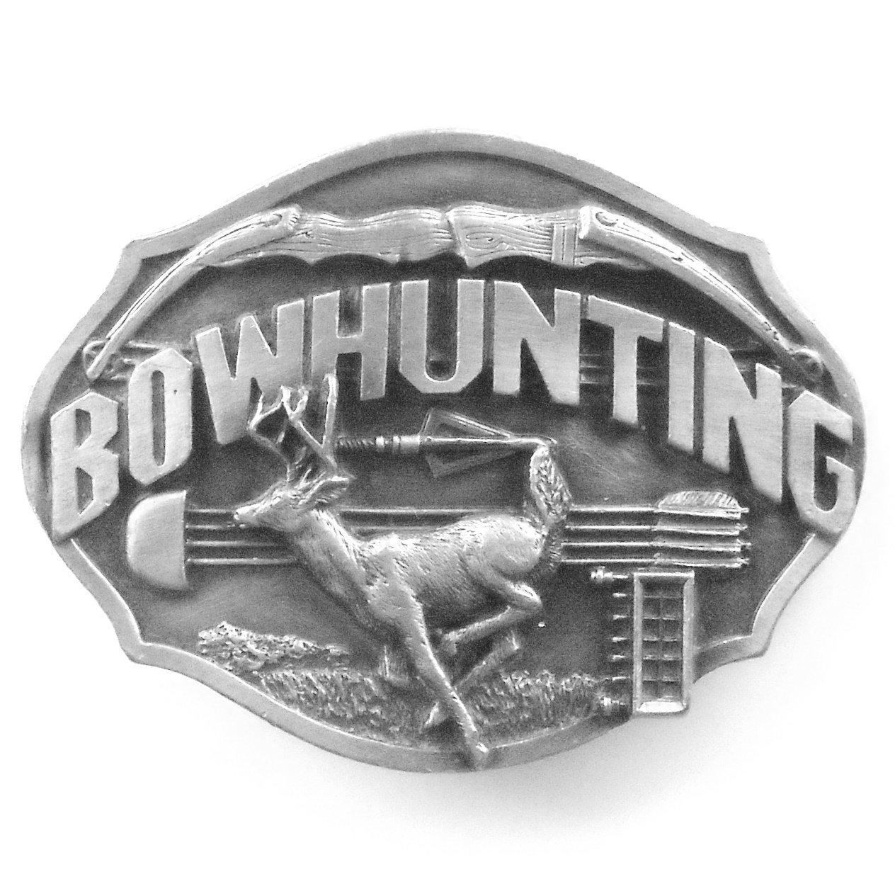 Bow Hunting pewter Siskiyou 3D belt buckle
