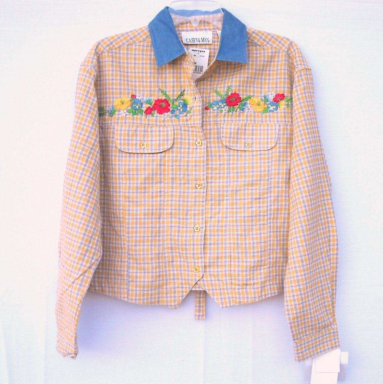 Casey Max Embroidered Shirt Top Size L