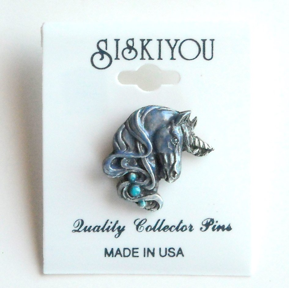 Unicorn Head Siskiyou Pewter Tie Tac Hat Lapel Pin