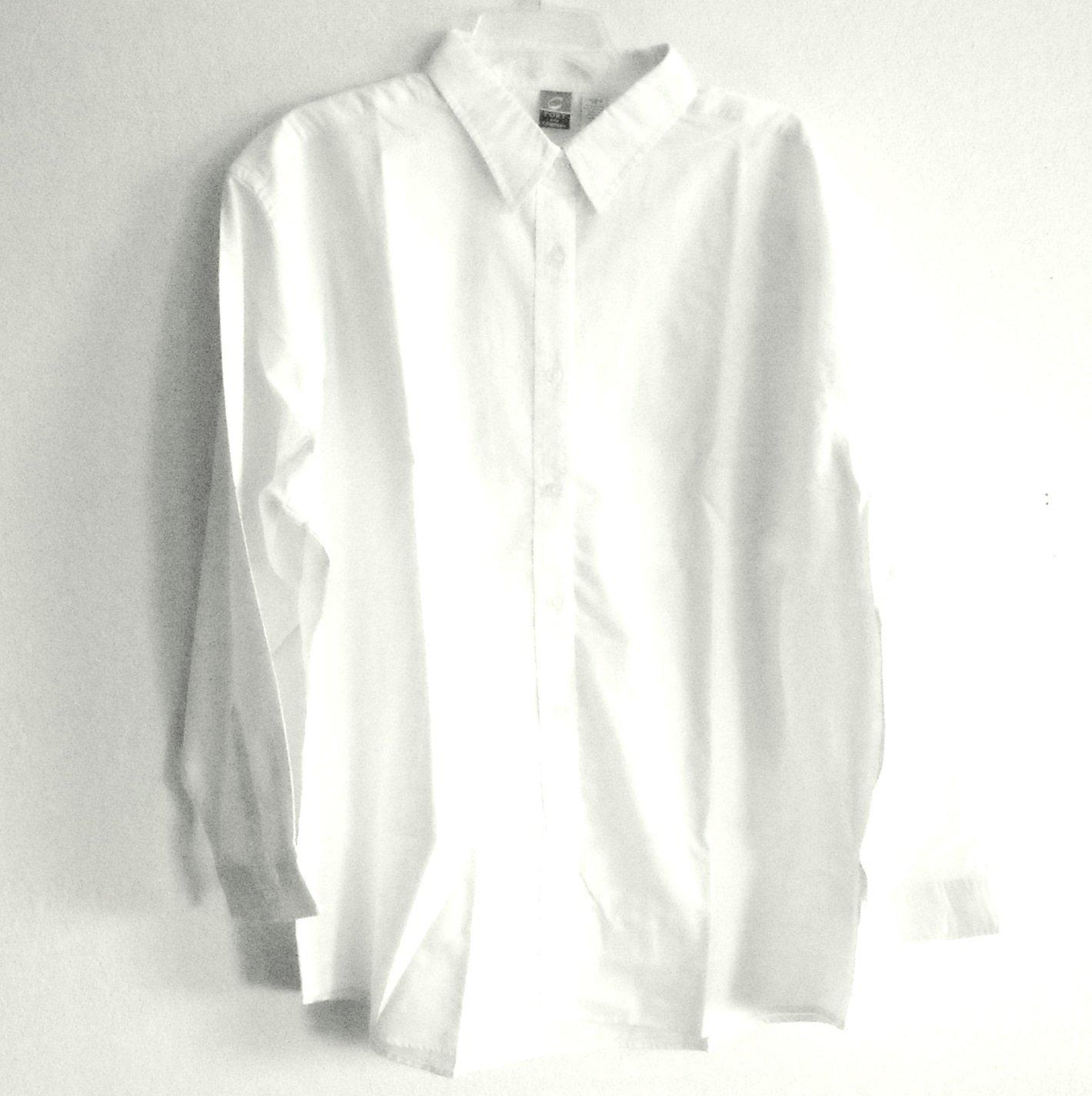 Misses White Denim Oregon Music Festival Country Western Button Up Shirt Top Size XS NIB