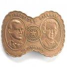 Vintage Tiffany Pinkertons Gallery James Boys Brass Belt Buckle