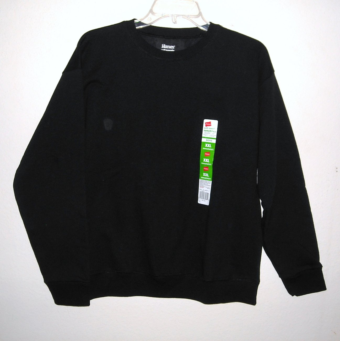 Hanes Boys Soft Black Sweats Fleece Sweatshirt XXL / XXG 18
