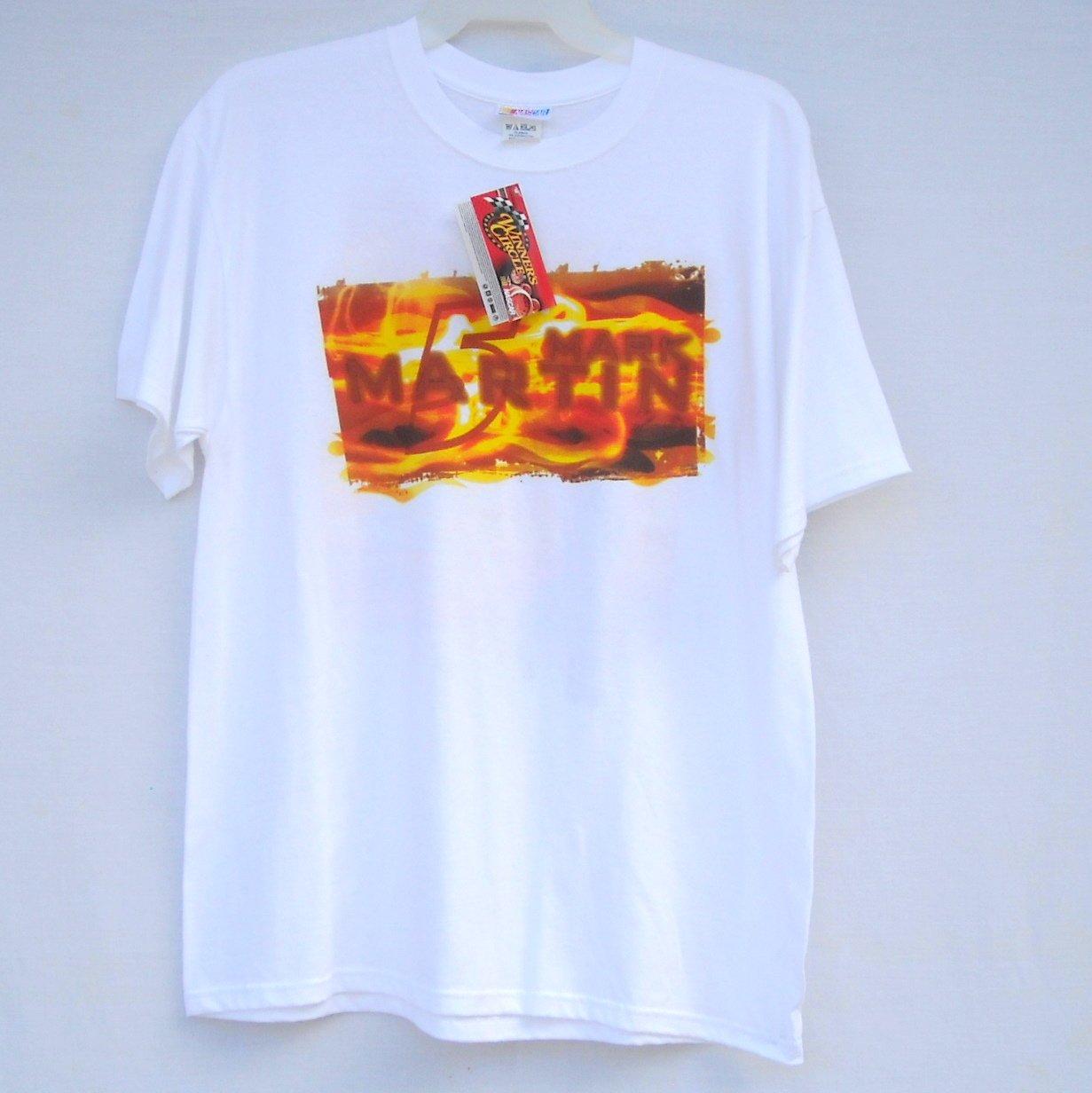 Mark Martin # 5 Go Daddy Nascar Winners Circle T Shirts size XL