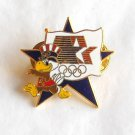 1984 Olympics XXIII Los Angeles Sam the Eagle blue star tie tac hat lapel pin